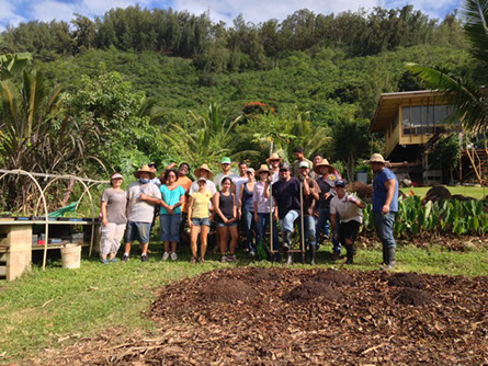 David and Suzette participating in a Go Farm Hawaii event.